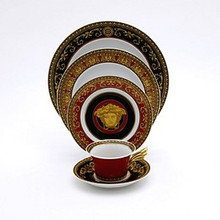 Versace Medusa Red 5 Piece Place Setting