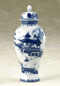 Mottahedeh Blue Canton Small Covered Jar