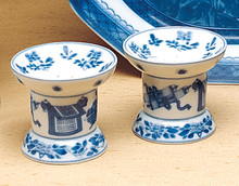 Mottahedeh Blue Canton Salt and Pepper Set 2 1/2""