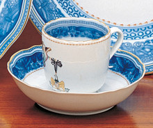Mottahedeh Cincinnati Service Tea Cup and Saucer