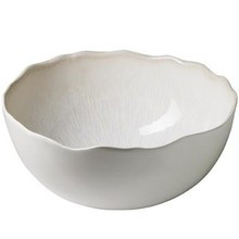 "Jars Plume White Pearl Serving Bowl 11"" x 10"" x4.7"""