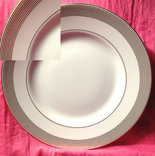 Vera Wang Golden Grosgrain Accent Salad Plate 9""