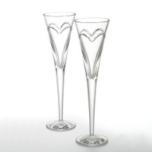 Waterford Wedding Love & Romance Toasting Flutes, Set of 2