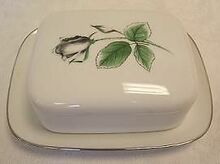 Stonegate / Heritage Midnight Rose Covered Butter Dish