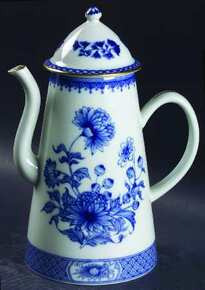 Mottahedeh Imperial Blue Coffeepot