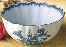 Mottahedeh Imperial Blue Scalloped Bowl
