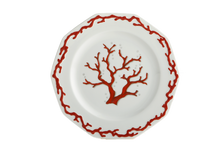 Heritage House's Mottahedeh Barriera Corallina Red Dessert Plate