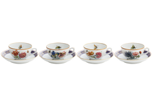 Heritage House's Mottahedeh Merian Tea Cup & Saucer (Set of 4)