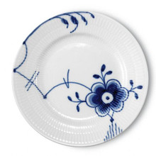 Blue Fluted Mega Bread & Butter Plate #6 6.75""