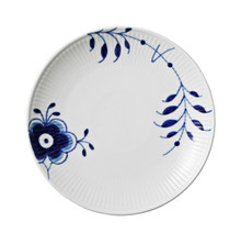 Blue Fluted Mega Bread & Butter Plate Coupe 7.5""