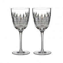 Waterford Lismore Diamond Pair of White Wine (Meese)