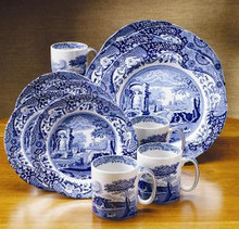 Spode Blue Italian 12 Piece Set (4 Dinners, Salads, Mugs)