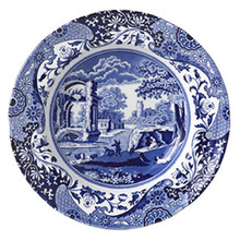 "Spode Blue Italian Soup Plate 9"" - set of 6"