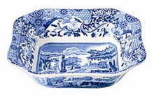 Spode Blue Italian Square Serving Bowl 9.5""