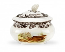 Spode Woodland Snipe/Pintail Covered Sugar Bowl 16 oz.