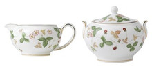 Wedgwood Wild Strawberry Creamer & Covered Sugar