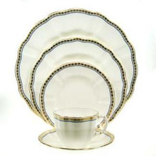 Royal Crown Derby Carlton Blue 5 Piece Place Setting