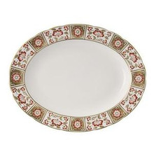 """Royal Crown Derby Panel Red Oval Platter 13"""""""