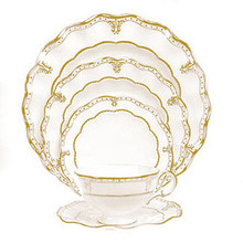 Royal Crown Derby Elizabeth Gold 5 Piece Place Setting
