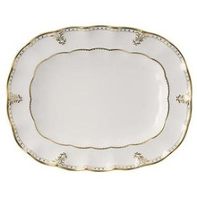 Royal Crown Derby Elizabeth Gold Oval Platter 15""