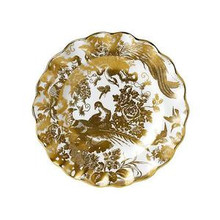 Royal Crown Derby Gold Aves Fluted Dessert Plate 8.5""