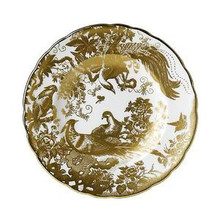 """Royal Crown Derby Gold Aves Dinner Plate 10"""""""