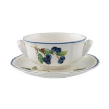 Villeroy & Boch Cottage Cream Soup Cup & Saucer (Set of 2)