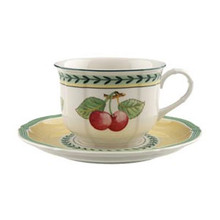 Villeroy & Boch French Garden Fleurence Breakfast Cup & Saucer (Set of 2)