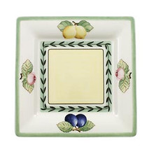 Villeroy & Boch French Garden Macon Square Bread & Butter Plate: Fleurence (Set of 4)