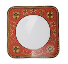 Versace Medusa Red Salad Square Plate, 8 1/4""