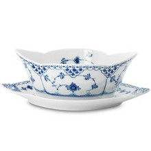 Royal Copenhagen Blue Fluted Half Lace Sauce Boat 13.5 oz. (1102563)