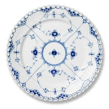 "Royal Copenhagen Blue Fluted Full Lace Salad/Dessert Plate 7.5"" (1103620)"