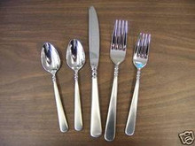 Lenox PEARL PLATINUM FROSTED 5PC SETTING NEW