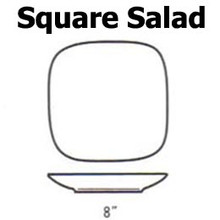 """Lindt Stymeist SQUARE Salad Plate  8"""" new"""