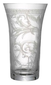 Versace Arabesque Clear Vase 13.5""