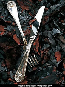 VERSACE MEDUSA SILVER PLATED fish fork 7.75""