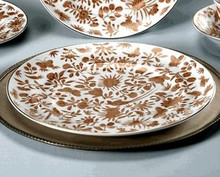 Mottahedeh Sacred Bird & Butterfly Rim Soup Plate (Set of 2)