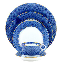 Mottahedeh Blue Lace 5 Piece Place Setting