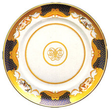 Mottahedeh Golden Butterfly Bread & Butter Plate 7""