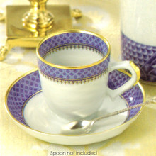 Mottahedeh Indigo Wave Demitasse Cup & Saucer (Set of 2)
