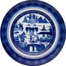 "Mottahedeh Blue Canton Dinner Plate 10"" (Set of 2)"