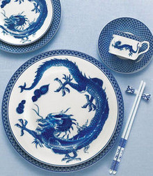 Mottahedeh Blue Dragon 5 Piece Place Setting