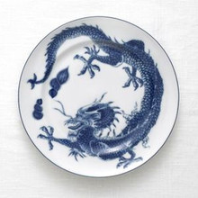 Mottahedeh Blue Dragon Bread & Butter Plate (Set of 2)