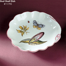 Mottahedeh Chelsea Botanicals Bud Shell Dish 6""