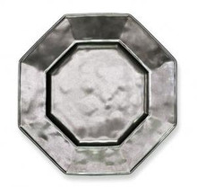 "Juliska Pewter Stoneware Octagonal Salad / Dessert Plate 9"" (Set of 4)"