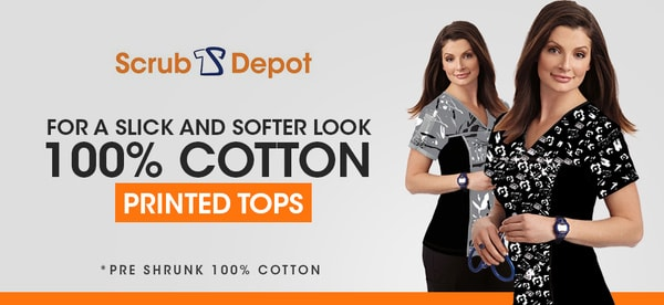 Womens Tops And Printed Scrub Tops