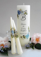 Blue Bouquet Wedding Unity Candles