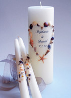 Sea Shell Heart Wedding Unity Candles