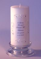 Quad Lace Swarovski Crystal Memorial Candle