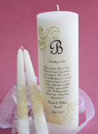 French Lace 1 Corinthians 13 Wedding Unity Candles